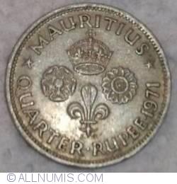 Image #2 of 1/4 Rupee Mauritius 1971