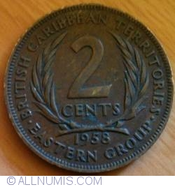 Image #2 of 2 Cents 1958