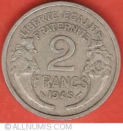 Image #2 of 2 Francs 1945
