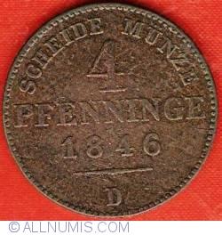 Image #2 of 4 Pfenninge 1846 D