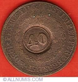 "Image #1 of 40 Reis 1835 - countermark ""40"" on 80 Reis KM#366.1"