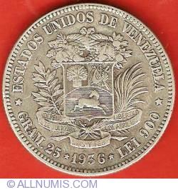 Imaginea #1 a 5 Bolivares 1936