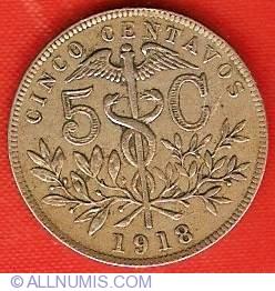 Imaginea #2 a 5 Centavos 1918
