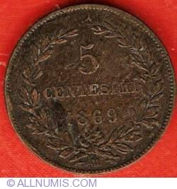 Imaginea #2 a 5 Centesimi 1869 M