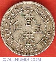 Imaginea #2 a 5 Cents 1900 H