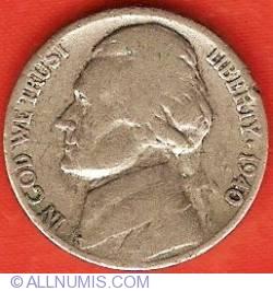 Image #1 of Jefferson Nickel 1940