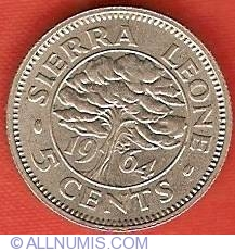 Image #2 of 5 Cents 1964