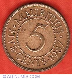 Image #2 of 5 Cents 1987