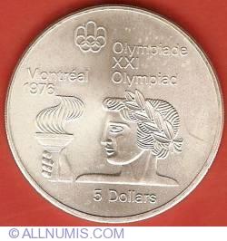 Imaginea #2 a 5 Dolari 1974 - Jocurile Olimpice de la Montreal
