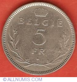 Imaginea #2 a 5 Francs 1936 (Dutch)