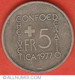 Imaginea #1 a 5 Francs 1977 - Johann Heinrich Pestalozzi