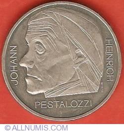 Imaginea #2 a 5 Francs 1977 - Johann Heinrich Pestalozzi