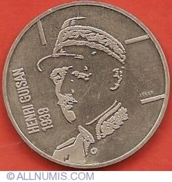 Image #2 of 5 Francs 1989 - General Henri Guisan - 1939 Mobilisation