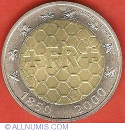 Image #2 of 5 Francs 2000 - 150 Years Swiss National Coinage
