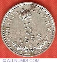 Image #2 of 5 Kreuzer 1858 A