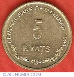 Image #2 of 5 Kyats 1999