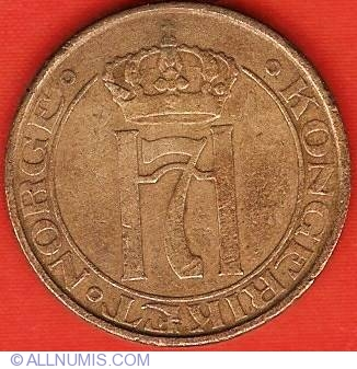 Uncommon Early Date 1936 NORWAY 2 ORE Norway Bin #5 FREE SHIPPING