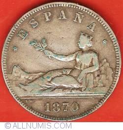 Image #1 of 5 Pesetas 1870 (70) SN-M