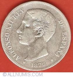 Image #1 of 5 Pesetas 1876 (76) DE-M