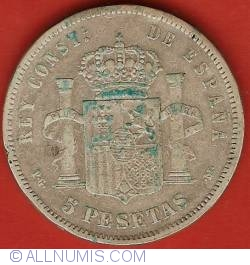 5 Pesetas 1892 (92) PG-M