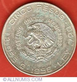Image #1 of 5 Pesos 1956 - Miguel Hidalgo
