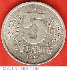 Image #1 of 5 Pfennig 1980 A