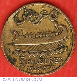 Image #2 of 5 Piastres 1925