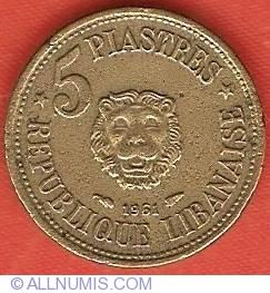 Image #2 of 5 Piastres 1961