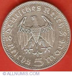 Image #1 of 5 Reichsmark 1936 A - Paul von Hindenburg