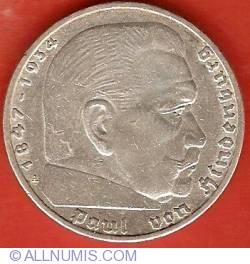 Image #2 of 5 Reichsmark 1936 A - Paul von Hindenburg
