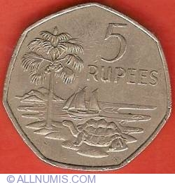 Image #2 of 5 Rupees 1972