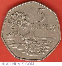 Imaginea #2 a 5 Rupees 1972
