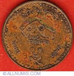 5 Rupees 1997 (VS2054) - Visit Nepal '98