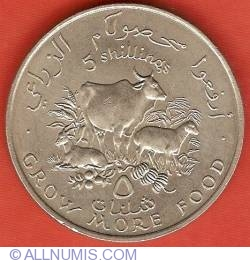 Image #2 of 5 Shillings 1970 - 2nd FAO Conference
