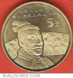 Imaginea #2 a 5 Yuan 2002 - Terra Cotta Army