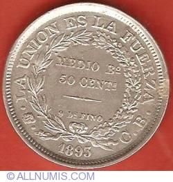 Imaginea #2 a 50 Centavos 1893 (1/2 Boliviano)