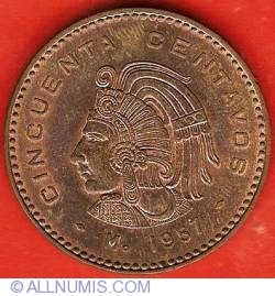 Image #2 of 50 Centavos 1957