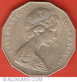 Image #2 of 50 Cents 1970 - 200th Anniversary - Cook's Australian Voyage