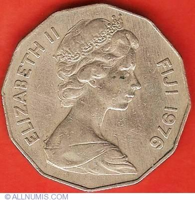 1975 Elizabeth II FIJI 5 cent coin Uncirculated