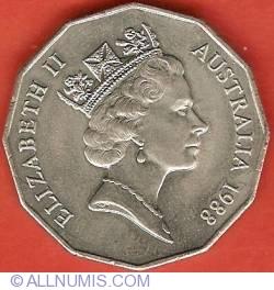 Image #2 of 50 Cents 1988 - Australian Bicentennial