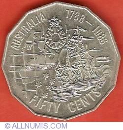 Image #1 of 50 Cents 1988 - Australian Bicentennial
