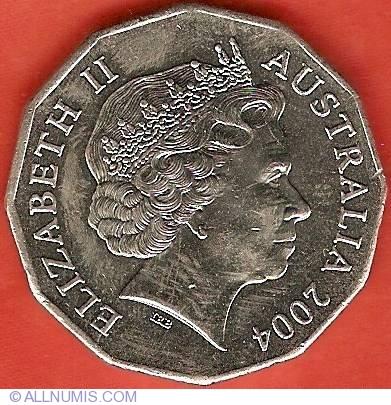 "2004 50 cent 50c coin /"" STUDENT DESIGN /"" COMMEMORATIVE  COIN"