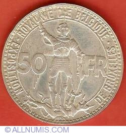 Imaginea #1 a 50 Francs 1935 (French) - Brussels Exposition and Railway Centennial