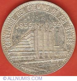 Imaginea #2 a 50 Francs 1935 (French) - Brussels Exposition and Railway Centennial