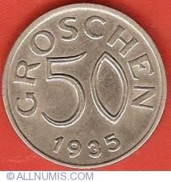 Image #2 of 50 Groschen 1935