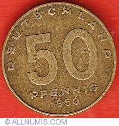 Image #1 of 50 Pfennig 1950 A