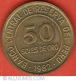 Imaginea #2 a 50 Soles 1982 without LIMA