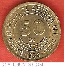 Image #2 of 50 Soles 1984 - 150th Anniversary Birth of Admiral Grau