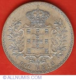 Imaginea #2 a 500 Reis 1891