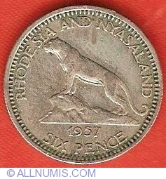 Image #2 of 6 Pence 1957
